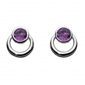 Gemme Loop Amethyst Drop Earrings (25346)