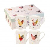 Rooster Larch Mug Set of 4 (25362)