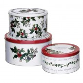 Holly And Ivy Cake Tins - Set of 3 (25383)