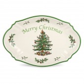 Christmas Tree Merry Christmas Tray - 28cm (25392)