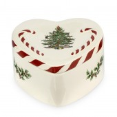 Spode Peppermint Lidded Heart Box (25400)