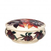 Moorcroft Pottery Covered Dish - 11.5cm (25465)