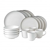 Bread Street White Dinner Set - 16 piece (25544)