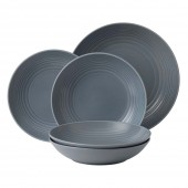 Royal Doulton Dark Grey Pasta Set - 5 Piece (25682)