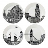 London Calling London Calling 22cm Plates - Set of 4 (25704)