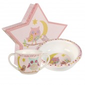 Churchill & Queens China Pink Porringer & Mug Set (25795)