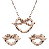 Rose Gold Necklace FREE Earrings (25838)