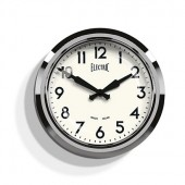 Newgate Clocks 50's Wall Clock Chrome (25840)