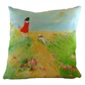 Evans Lichfield Pip Red Cushion (25848)