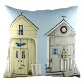 Evans Lichfield Two Beach Huts Cushion (25851)