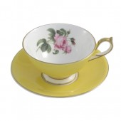 Aynsley English Rose Athens Yellow Teacup and Saucer (25922)