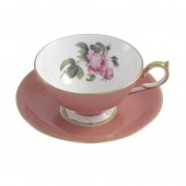 Vintage Collection Aynsley English Rose Athens Pink Teacup and Saucer (25923)