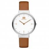 Danish Design Ladies Stainless Steel  Brown Leather Strap Watch V29Q1096 (26055)