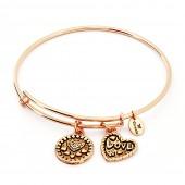 Love Rose Gold Plated Bangle (26111)