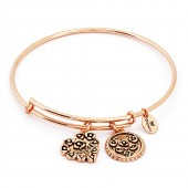 Wife Rose Gold Plated Bangle (26117)