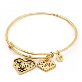Thinking of You Mother and Daughter Gold Plated Bangle (26118)