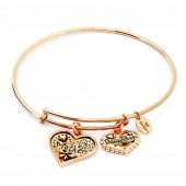 Thinking of You Mother and Daughter Rose Gold Plated Bangle (26120)