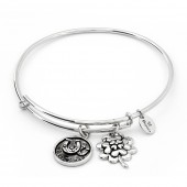 Thinking of You Good Luck Silver Plated Bangle (26122)