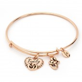 Thinking of You Family Rose Gold Plated Bangle (26126)