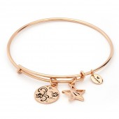 Thinking of You You're a Star Rose Gold Plated Bangle (26129)