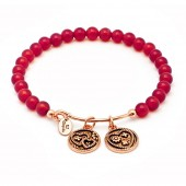 Love Red Agate Expandable Bangle (26135)
