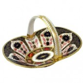 Royal Crown Derby Heather Basket (2618)