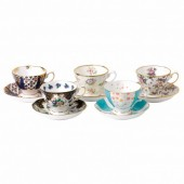 100 Years NEW! 1900-1940 Teacups and Saucers - Boxed Set of 5 (26227)