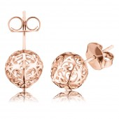 Rose Gold Plated Stud Earrings (26509)