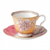 Butterfly Bloom Tea Cup & Saucer Yellow (26527)