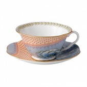Butterfly Bloom Tea Cup & Saucer Blue (26528)