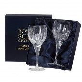 Scottish Thistle Pair of Large Wine Glasses (Presentation Boxed) (26661)