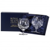 Scottish Thistle Pair of Brandy Glasses (Presentation Boxed) (26663)