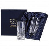 Scottish Thistle Pair of Highball Tumblers (Presentation Boxed) (26666)