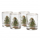 Set of 4 Double Old Fashioned Tumbler Glasses (26711)