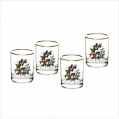 Holly And Ivy Set of 4 Double Old Fashioned Tumbler Glasses (26724)
