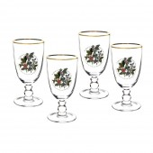 Holly And Ivy Set of 4 Goblet Large Glasses (26726)