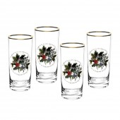 Holly And Ivy Set of 4 Highball Tumbler Glasses (26727)