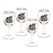 Holly And Ivy Set of 4 Wine Glasses (26728)
