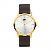 Danish Design Mens Leather Strap Stainless Steel Watch Q15Q1118 (26828)