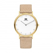 Danish Design Ladies Gold Plated Soft Leather Strap Watch V15Q1173 (26829)