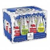 Wooden Crate of Ice Vodka Liquer Bottles (26874)