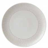 Soft Taupe Stripe 28cm Dinner Plate (27262)