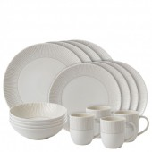 Soft Taupe Stripe 16 Piece Dinner Set (27267)
