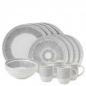 Charcoal Grey Lines 16 Piece Set (27276)