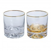 Gold Large Double Old Fashioned Glasses - Set of 2 (27293)