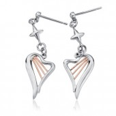 Heartstrings Silver Drop Earrings (27327)