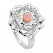 Tudor Rose Pink Opal Ring (27363)