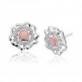 Tudor Rose Pink Opal Earrings (27364)