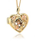 Oak Open Heart Locket (27369)