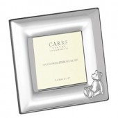 Sterling Silver Children's Bear Plain Square Frame (27844)